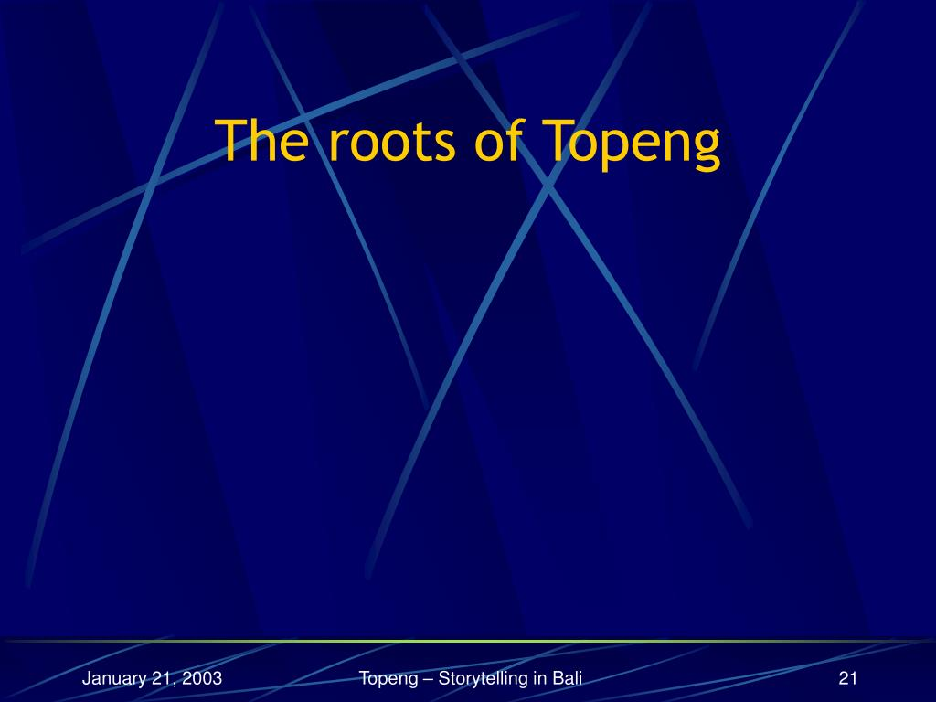 The roots of Topeng
