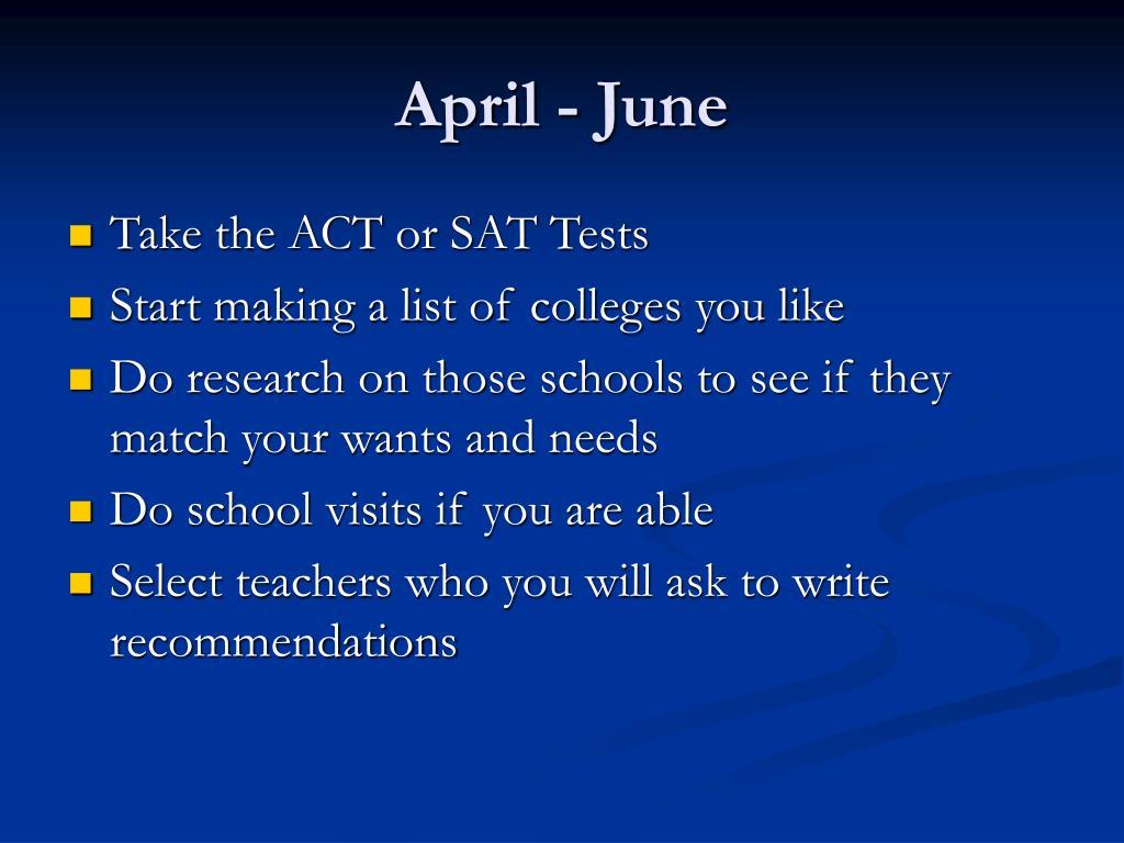 April - June