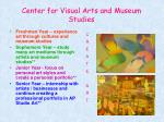 center for visual arts and museum studies
