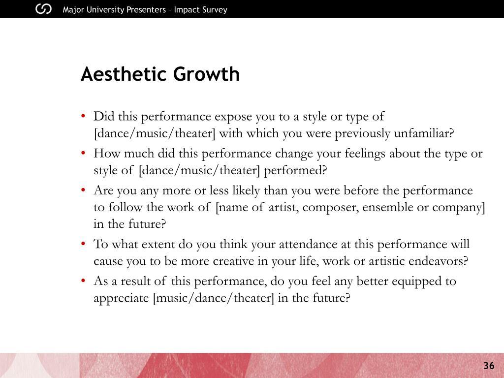 Aesthetic Growth