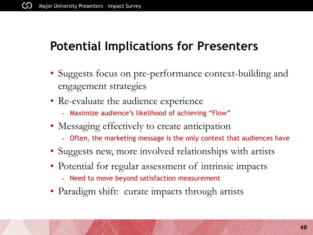 Potential Implications for Presenters