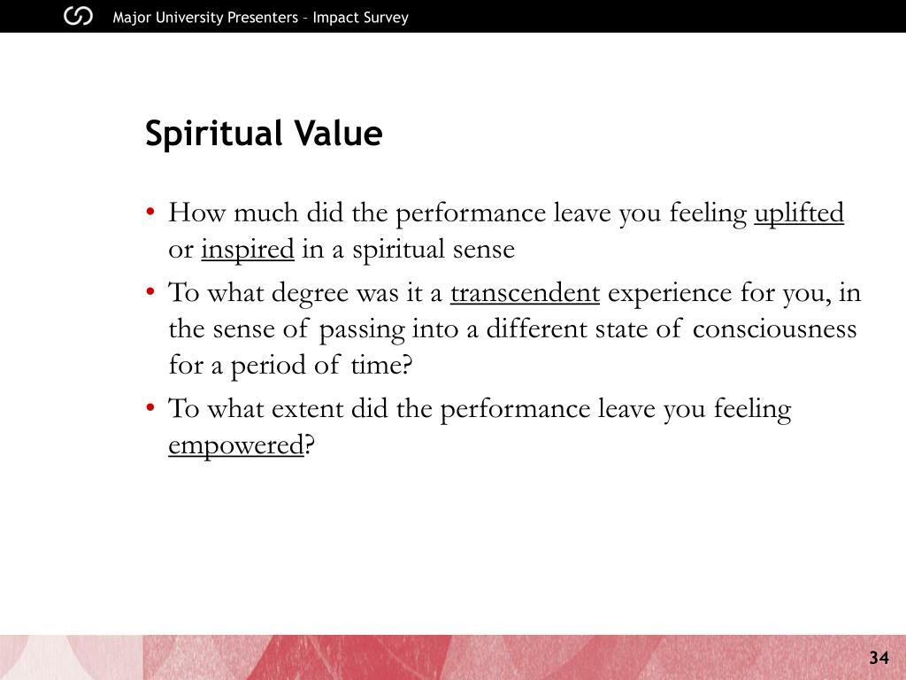 Spiritual Value