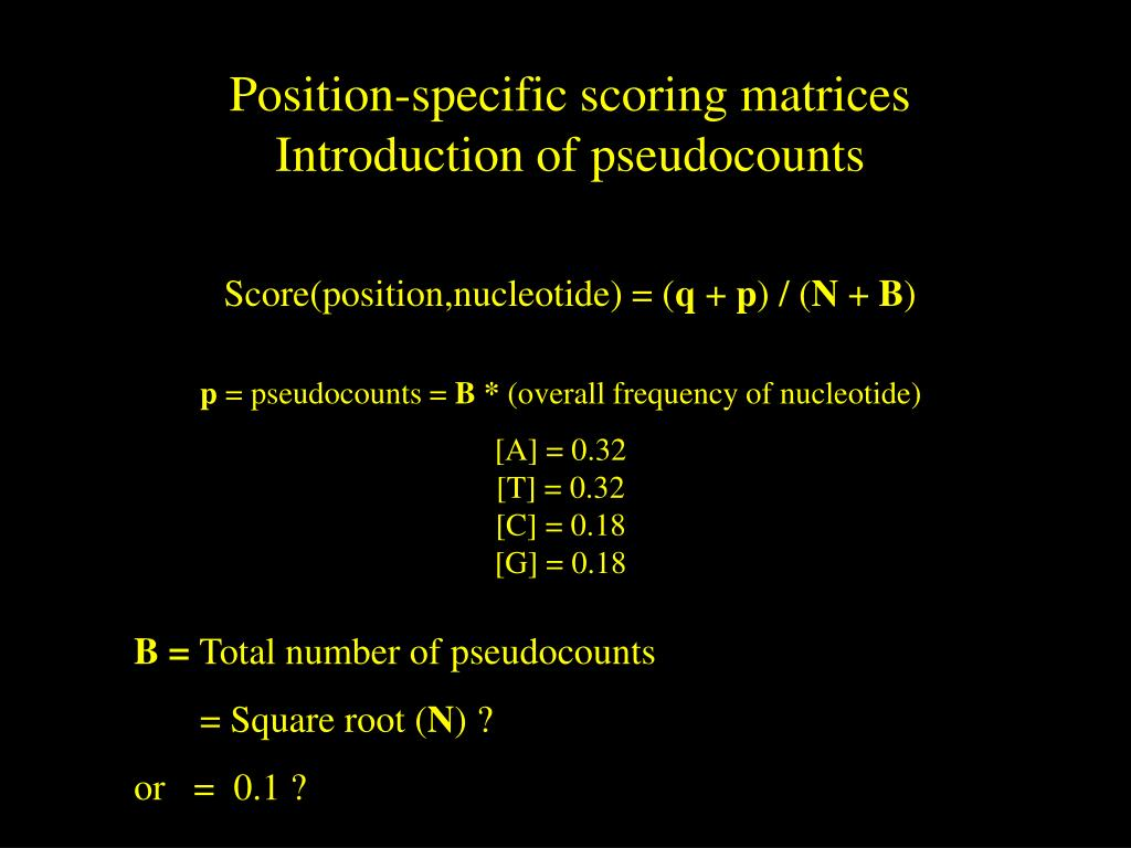 Position-specific scoring matrices