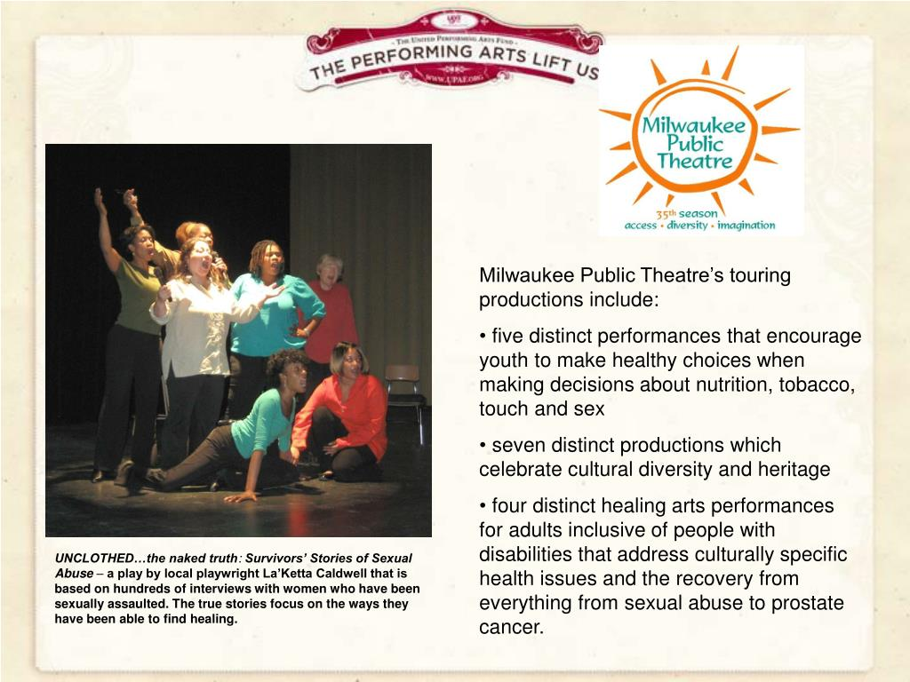 Milwaukee Public Theatre's touring productions include: