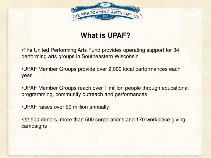 What is UPAF?