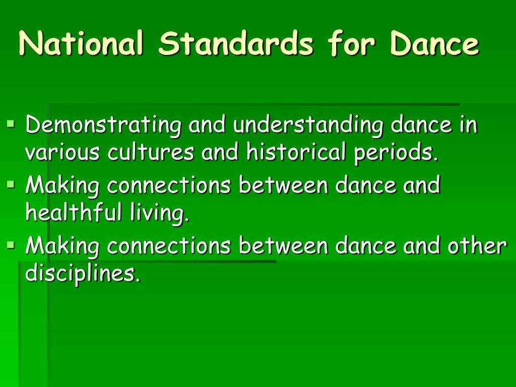 National Standards for Dance
