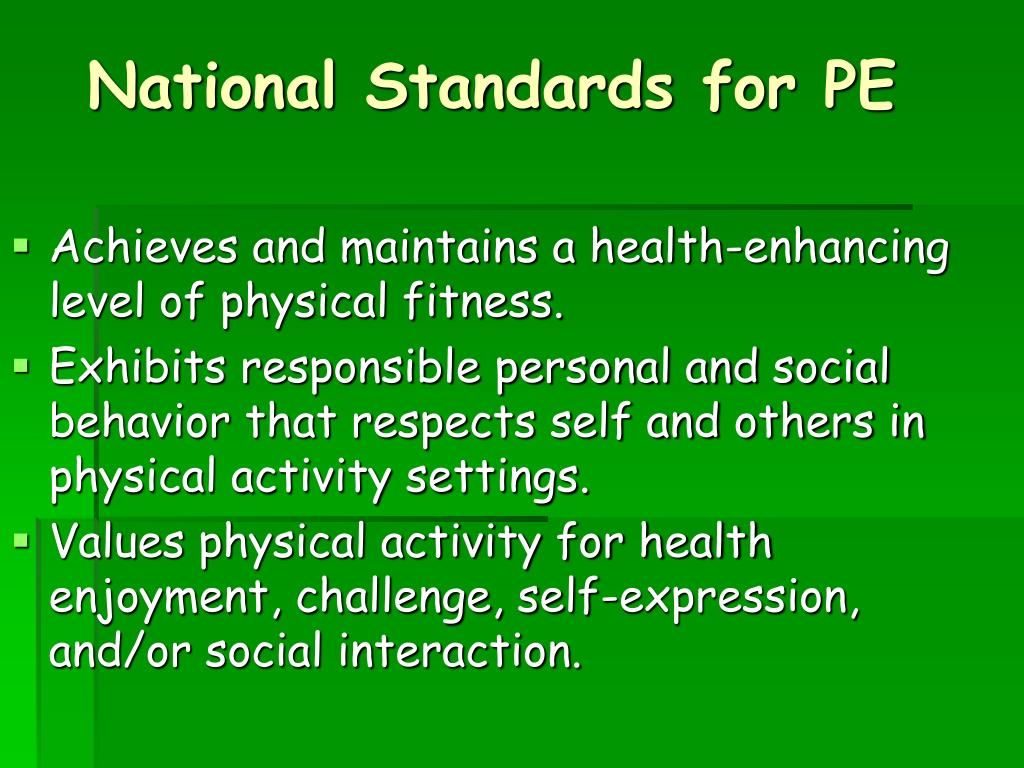 National Standards for PE
