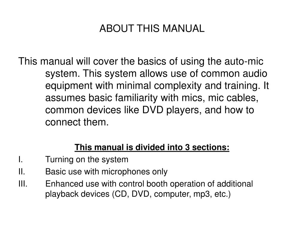 ABOUT THIS MANUAL