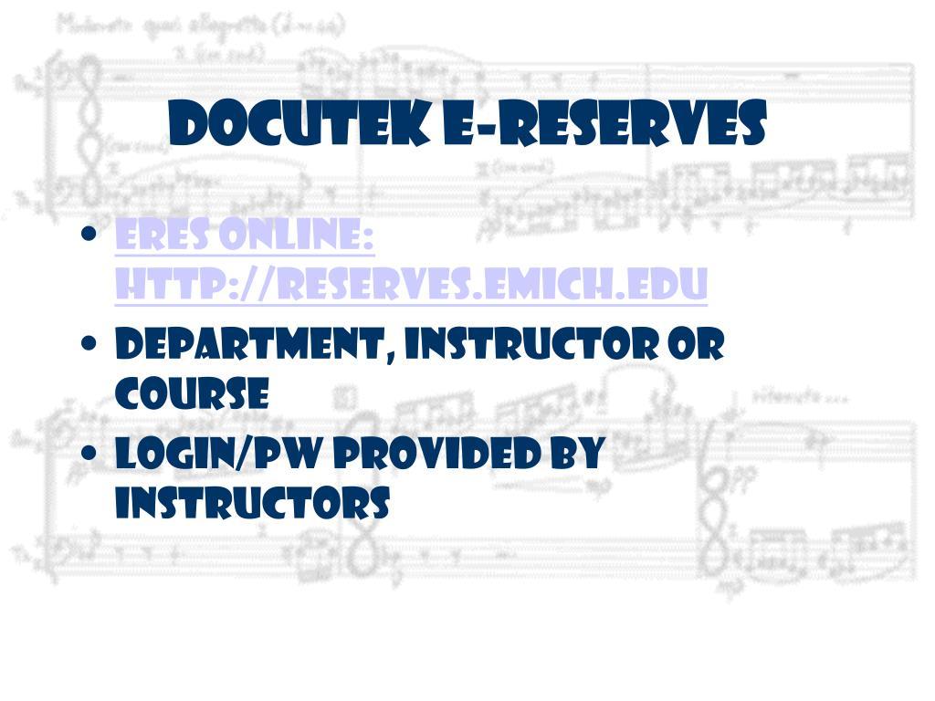 Docutek E-Reserves