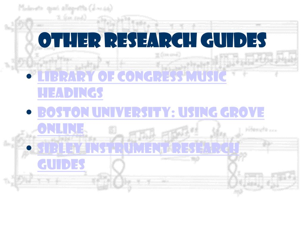 Other Research Guides