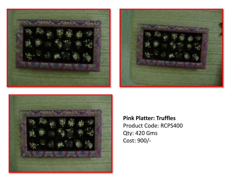 Pink Platter: Truffles
