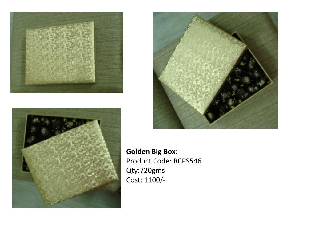 Golden Big Box: