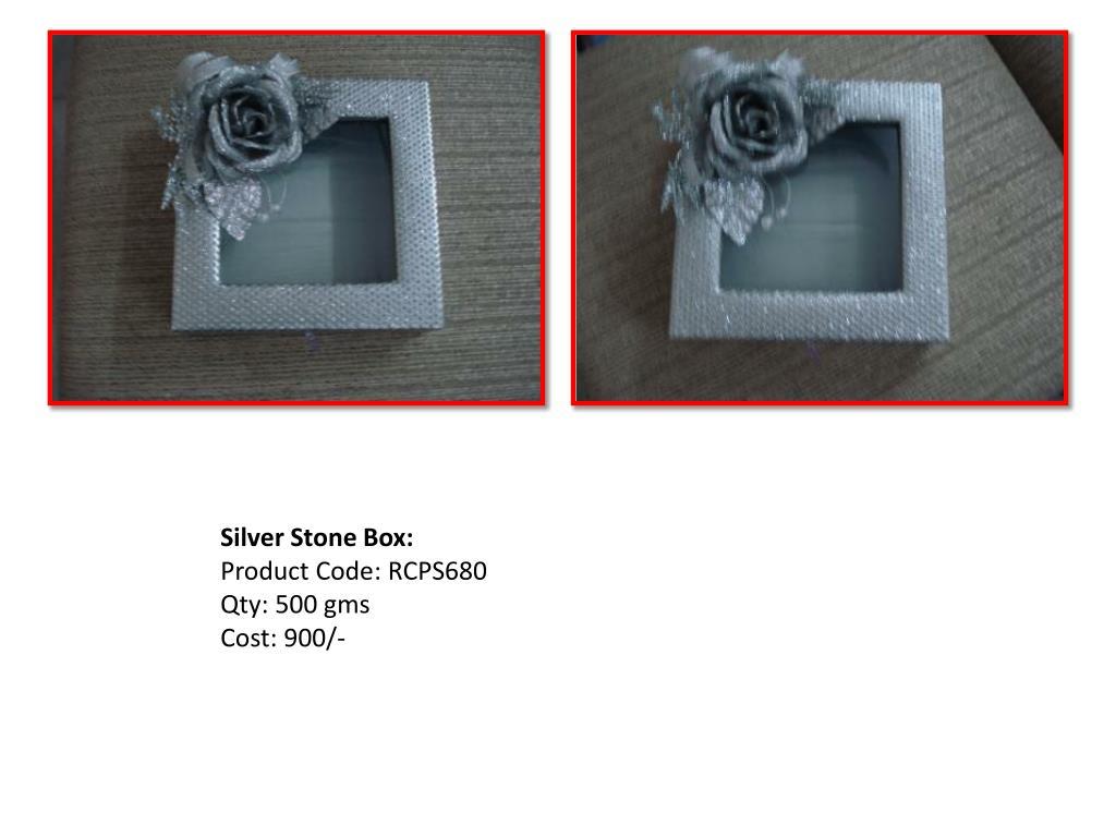 Silver Stone Box: