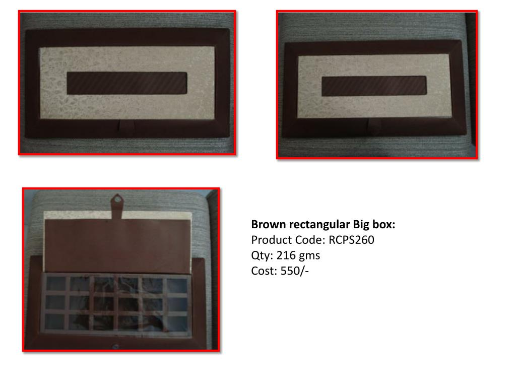 Brown rectangular Big box: