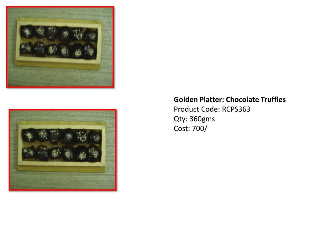 Golden Platter: Chocolate Truffles