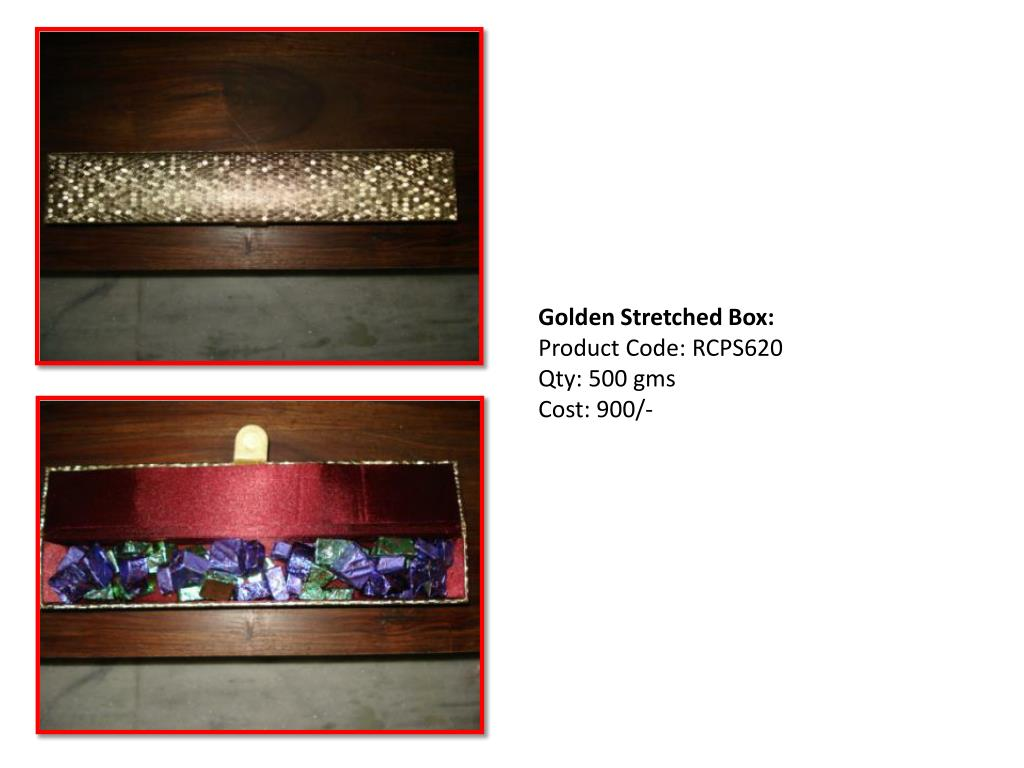 Golden Stretched Box: