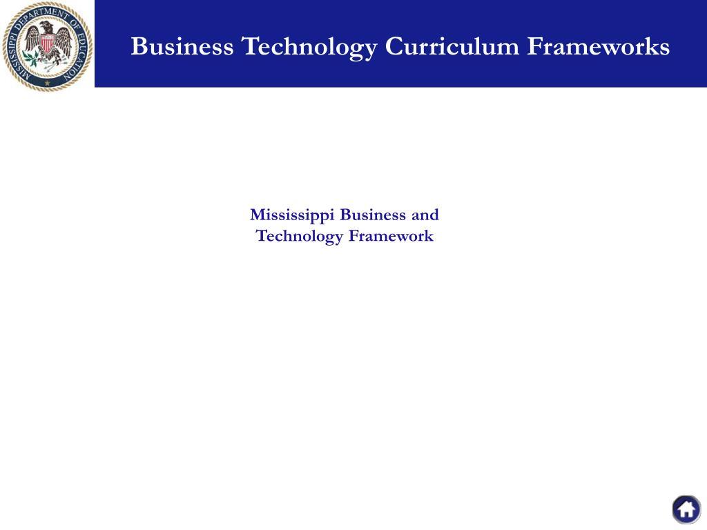 Business Technology Curriculum Frameworks