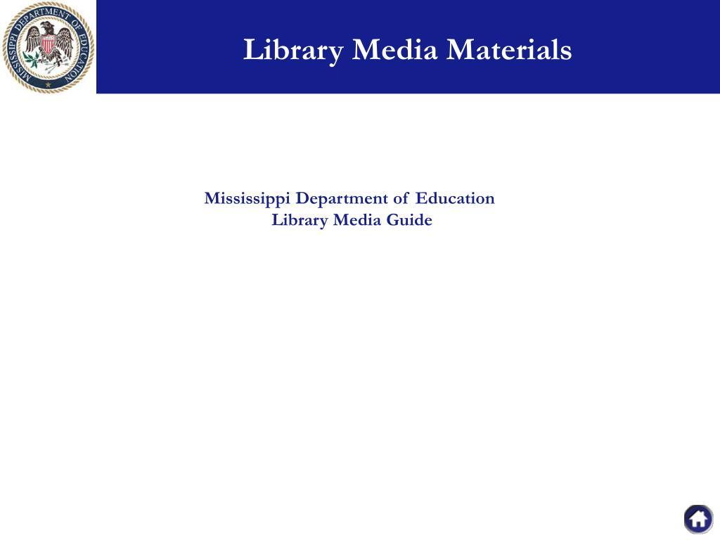 Library Media Materials
