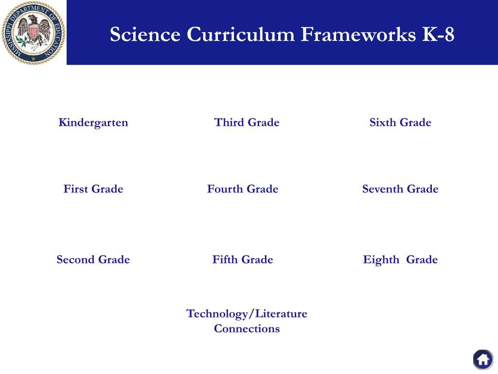 Science Curriculum Frameworks K-8