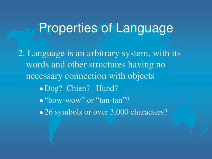 Properties of language2