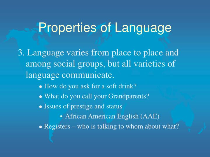 Properties of language3