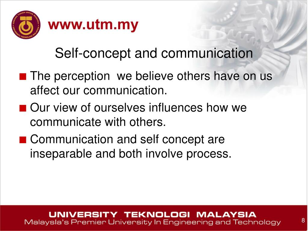 self concept communication Self-esteem in interpersonal relationship - all individuals through the socialization process and social interaction develop a sense of self, a fairly d.