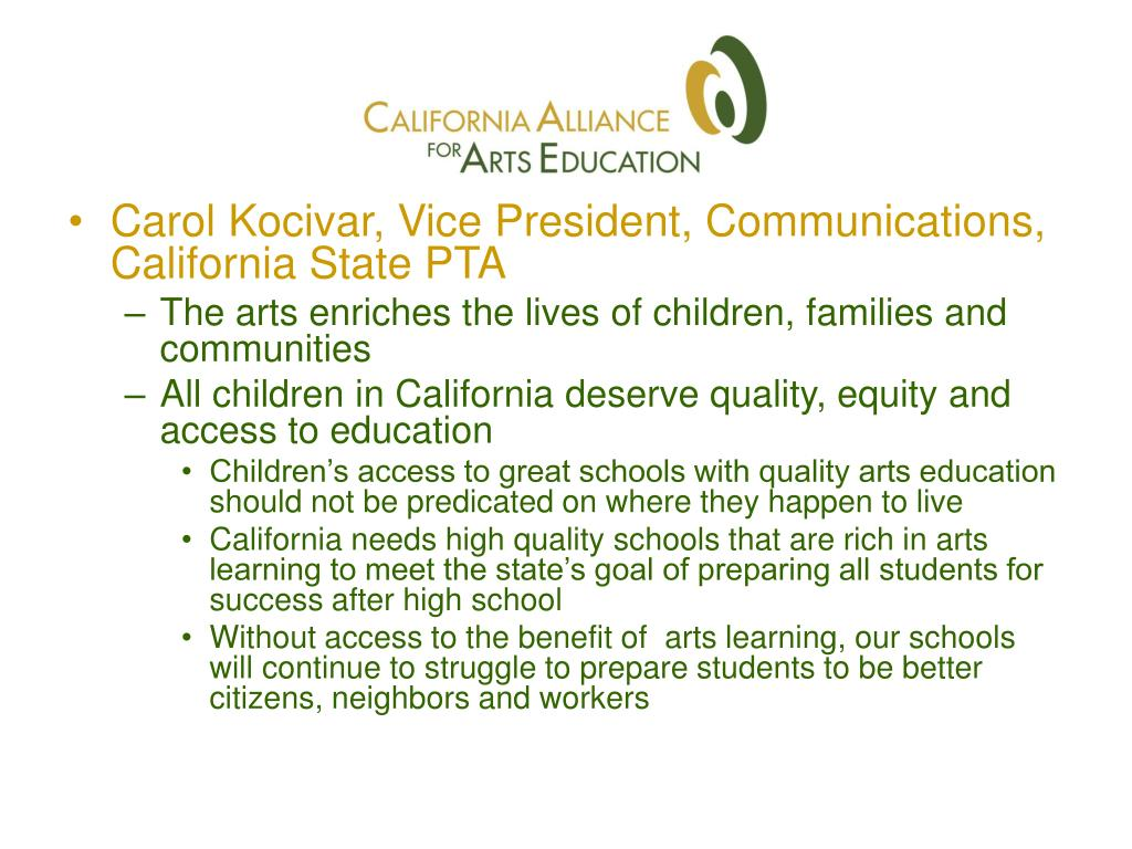 Carol Kocivar, Vice President, Communications, California State PTA