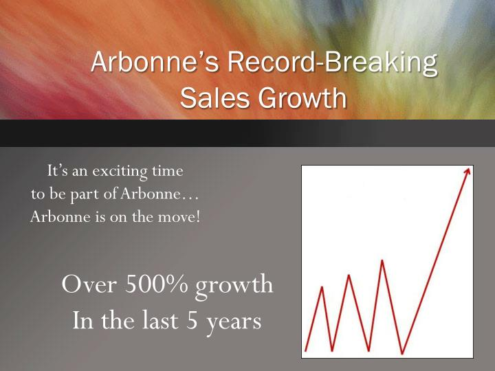 Arbonne s record breaking sales growth