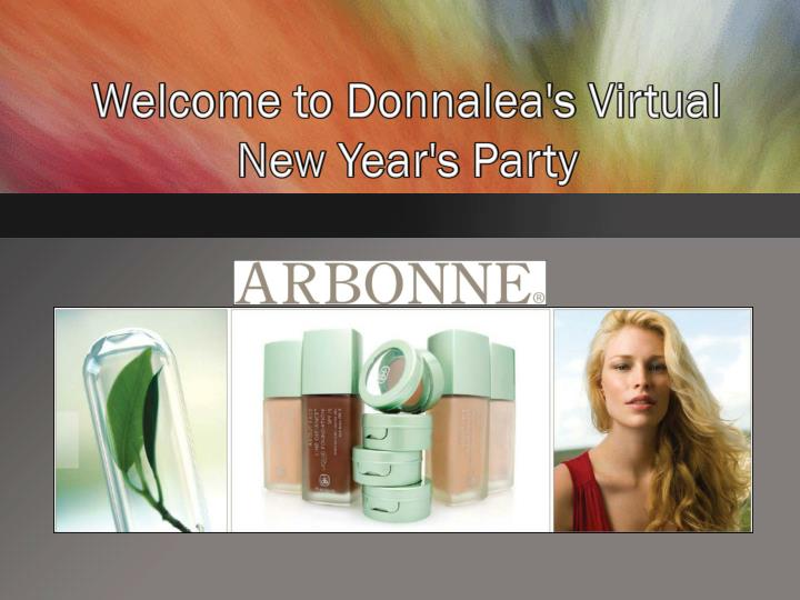 Welcome to donnalea s virtual new year s party