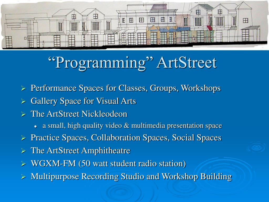 """""""Programming"""" ArtStreet"""