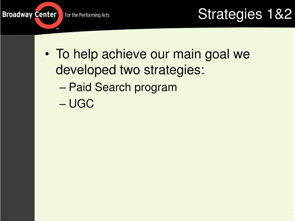 Strategies 1&2