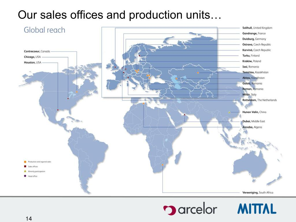 Our sales offices and production units…