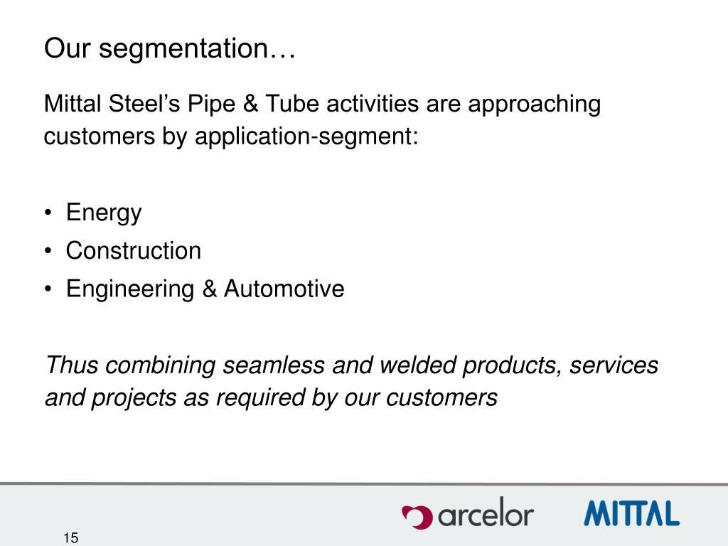 Our segmentation…