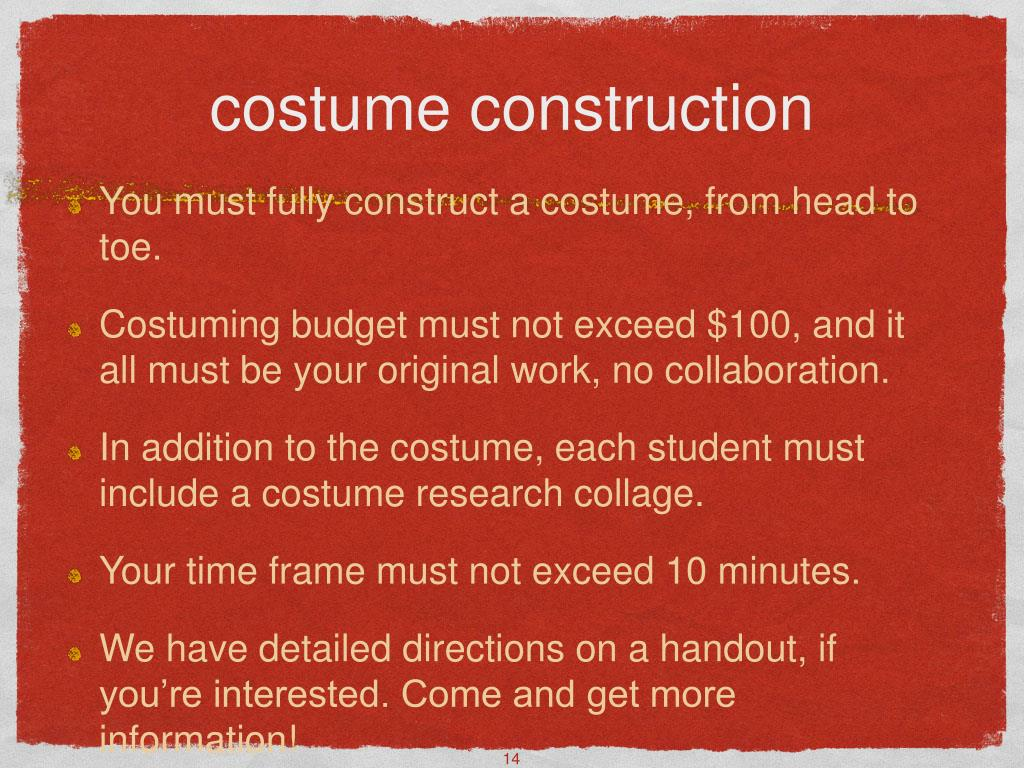 costume construction