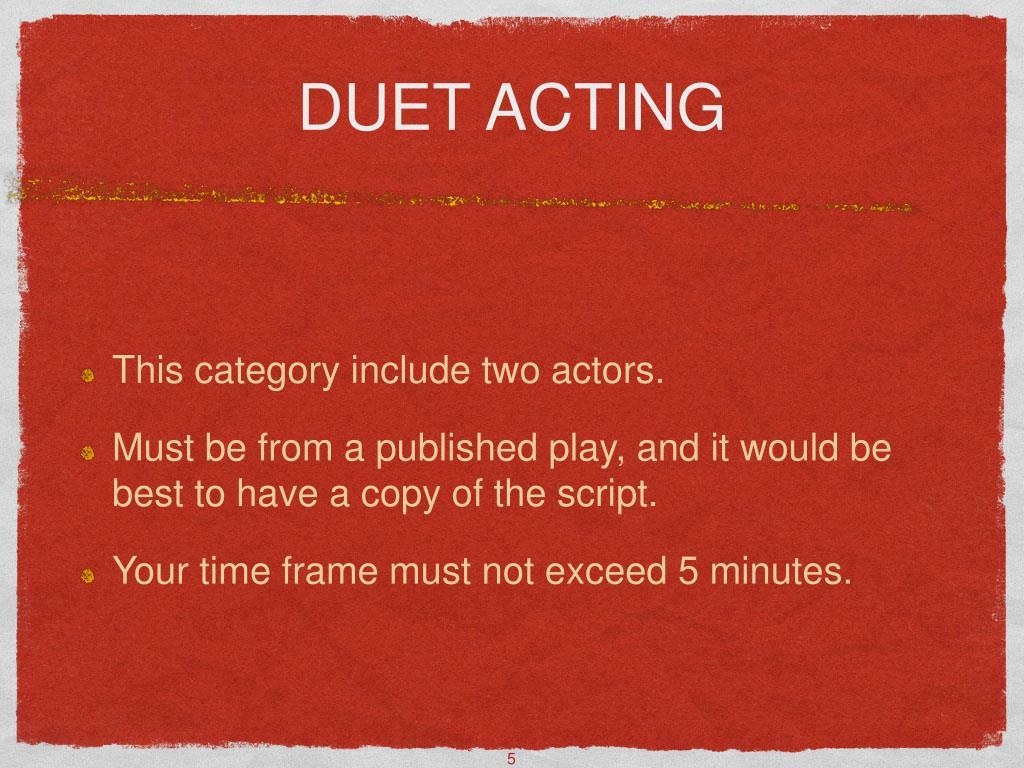 DUET ACTING