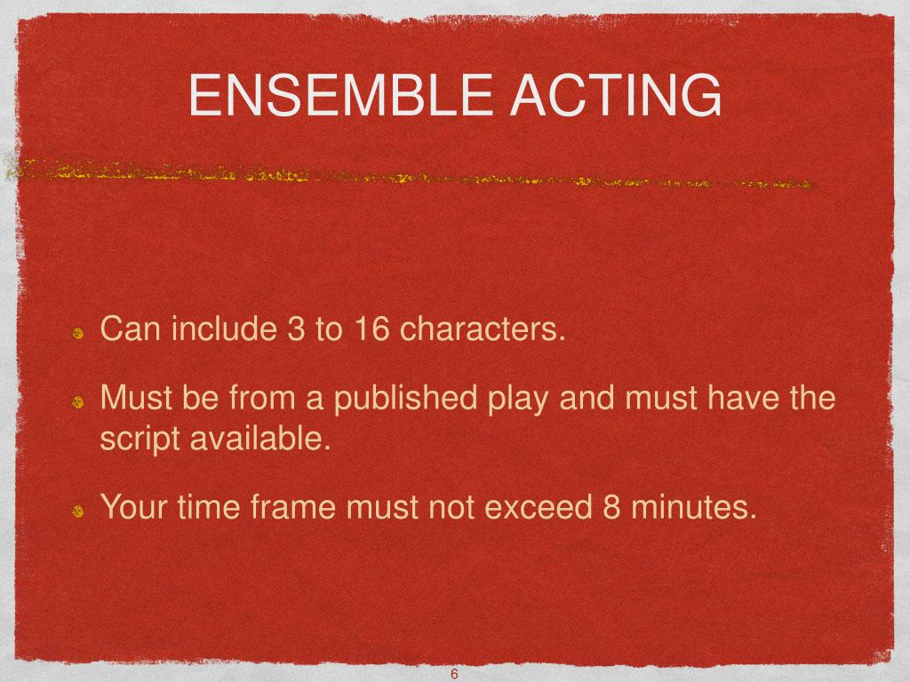 ENSEMBLE ACTING