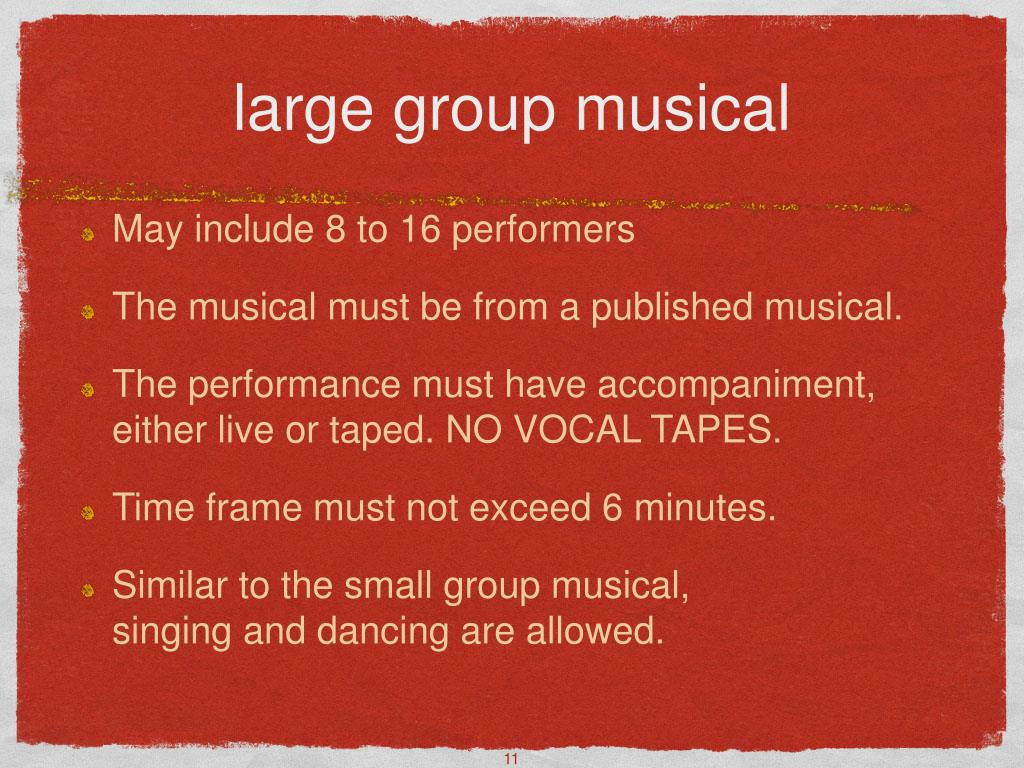 large group musical