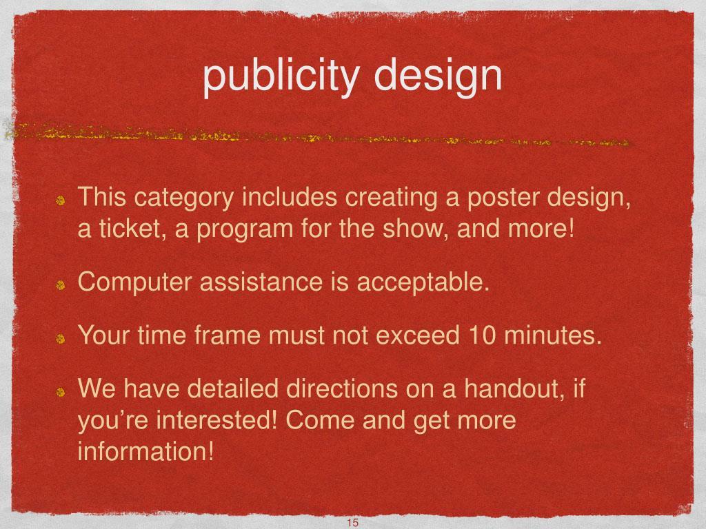 publicity design