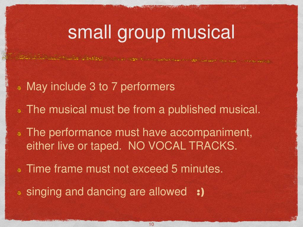 small group musical