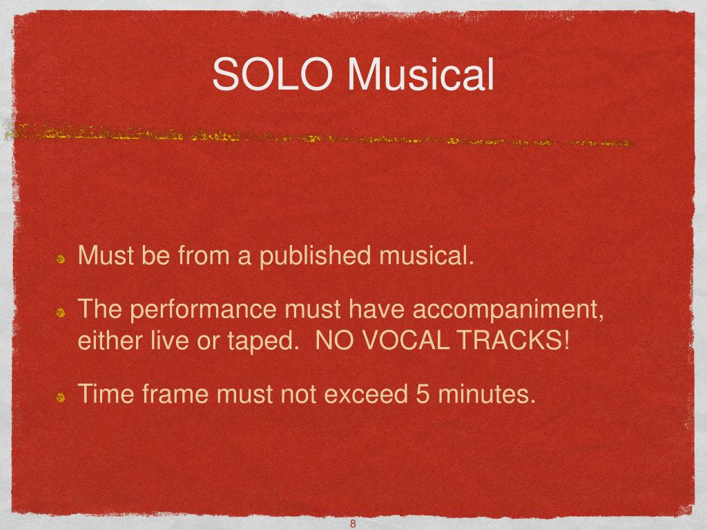 SOLO Musical