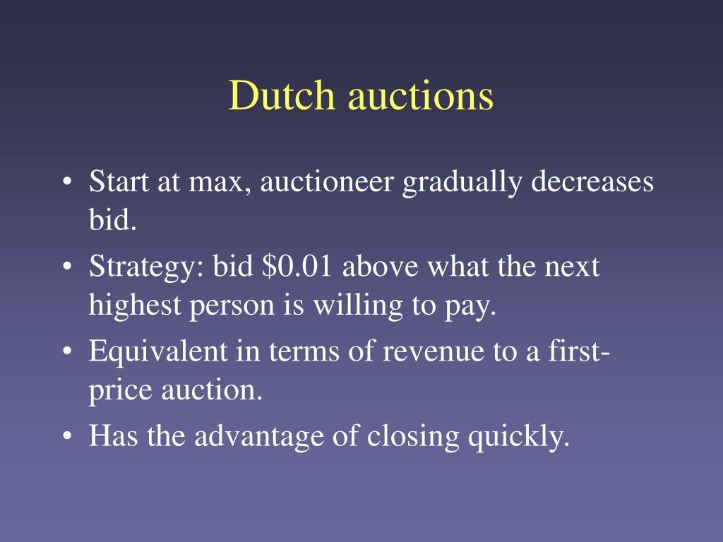 Dutch auctions