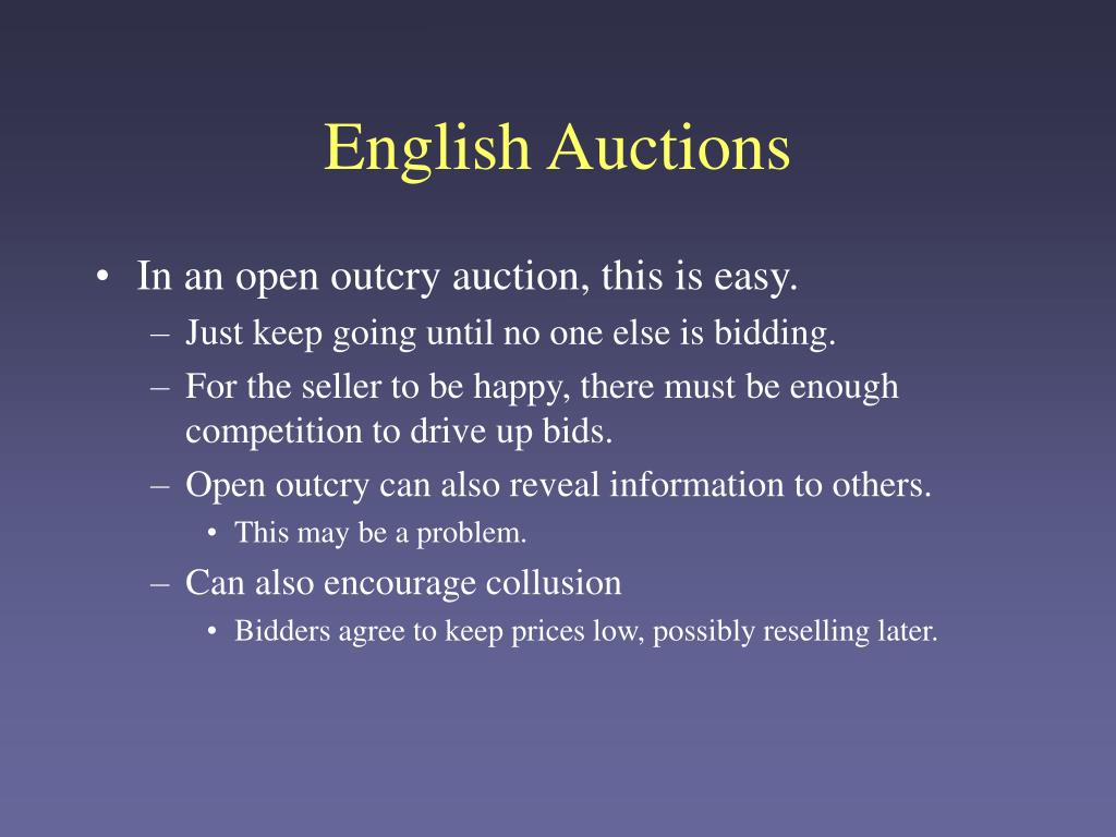 English Auctions