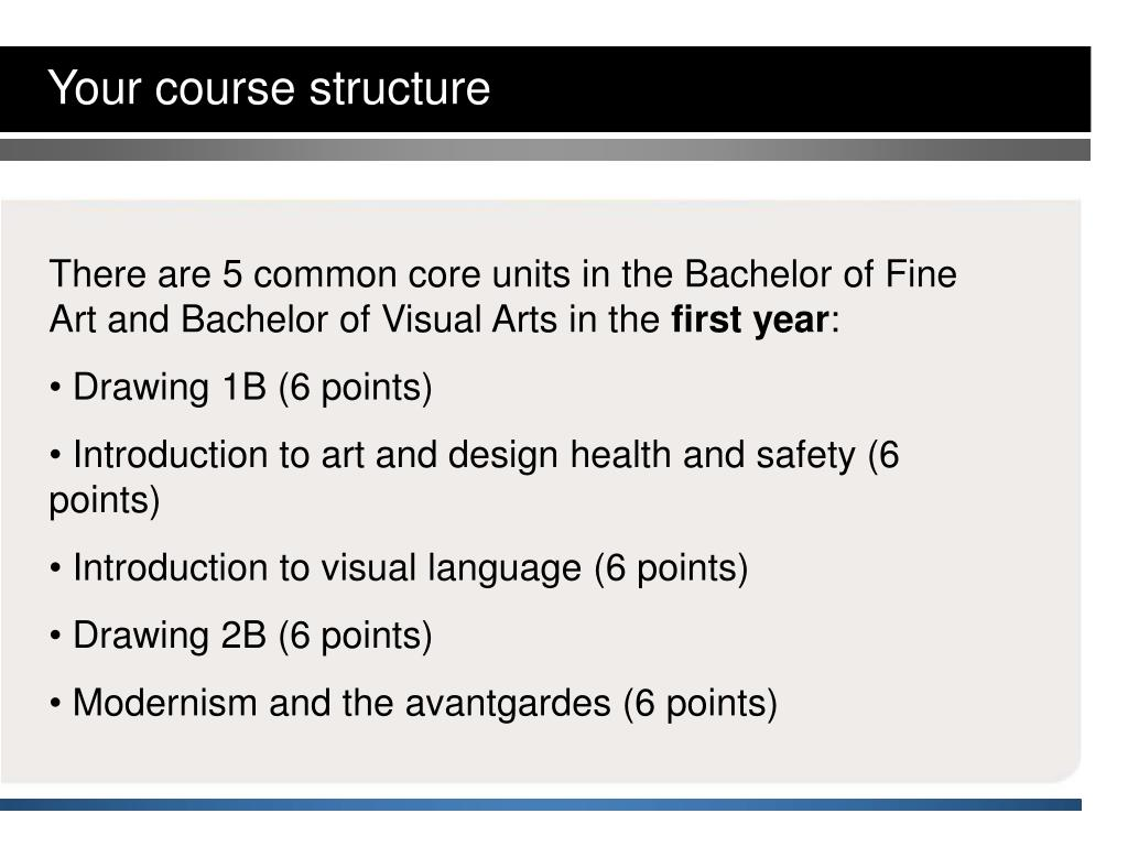 Your course structure