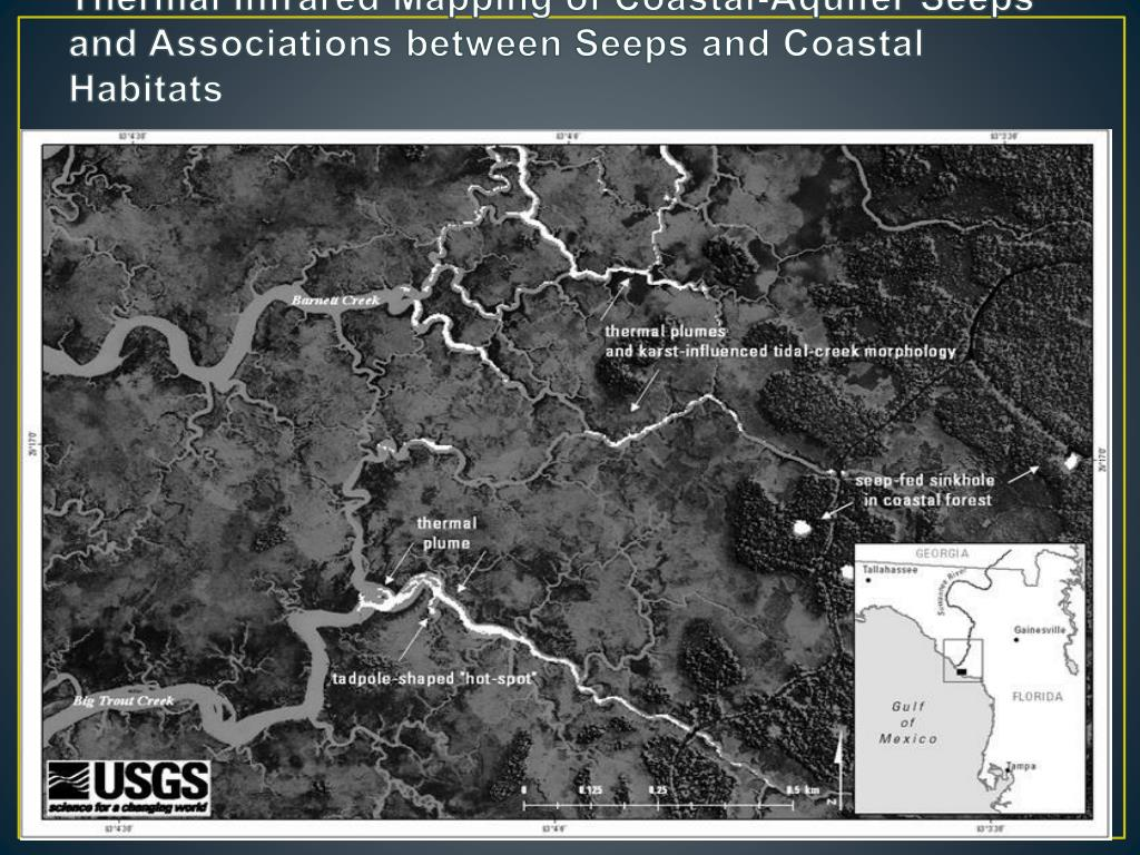 Thermal Infrared Mapping of Coastal-Aquifer Seeps and Associations between Seeps and Coastal Habitats
