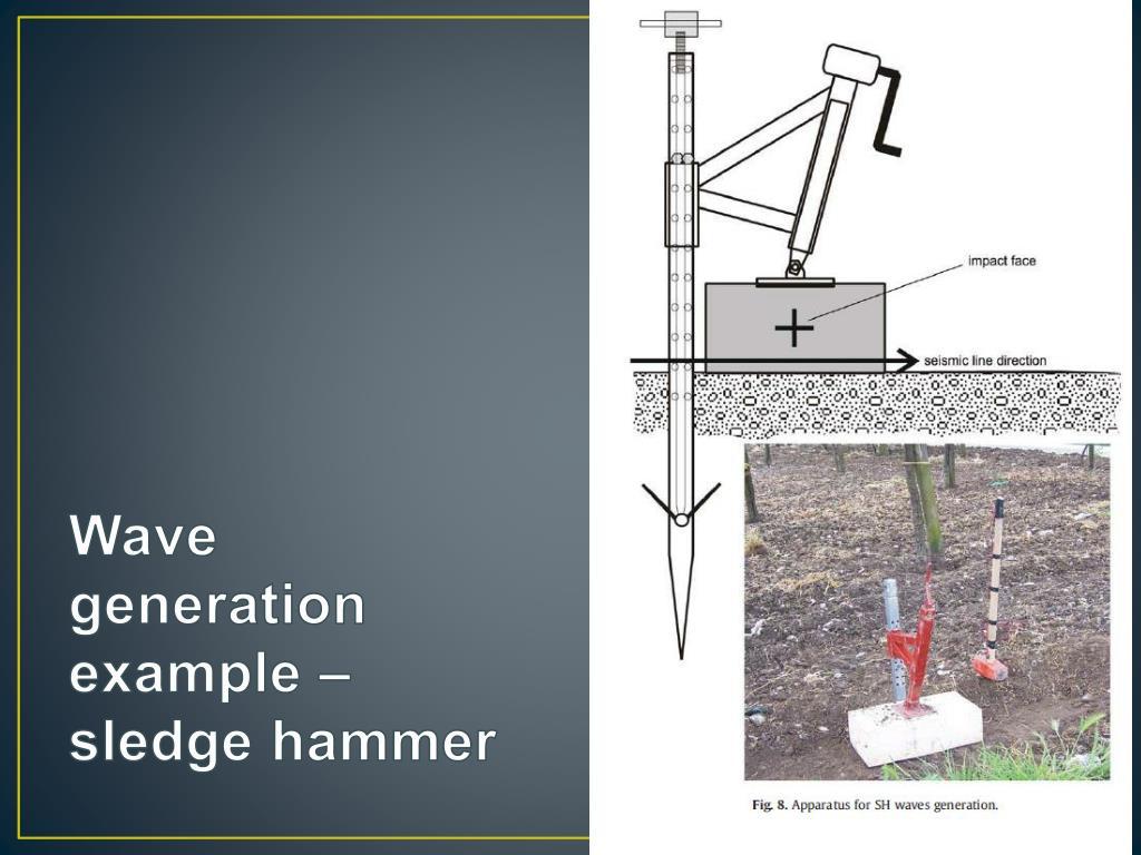 Wave generation example – sledge hammer