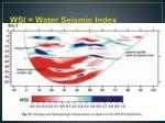 wsi water seismic index
