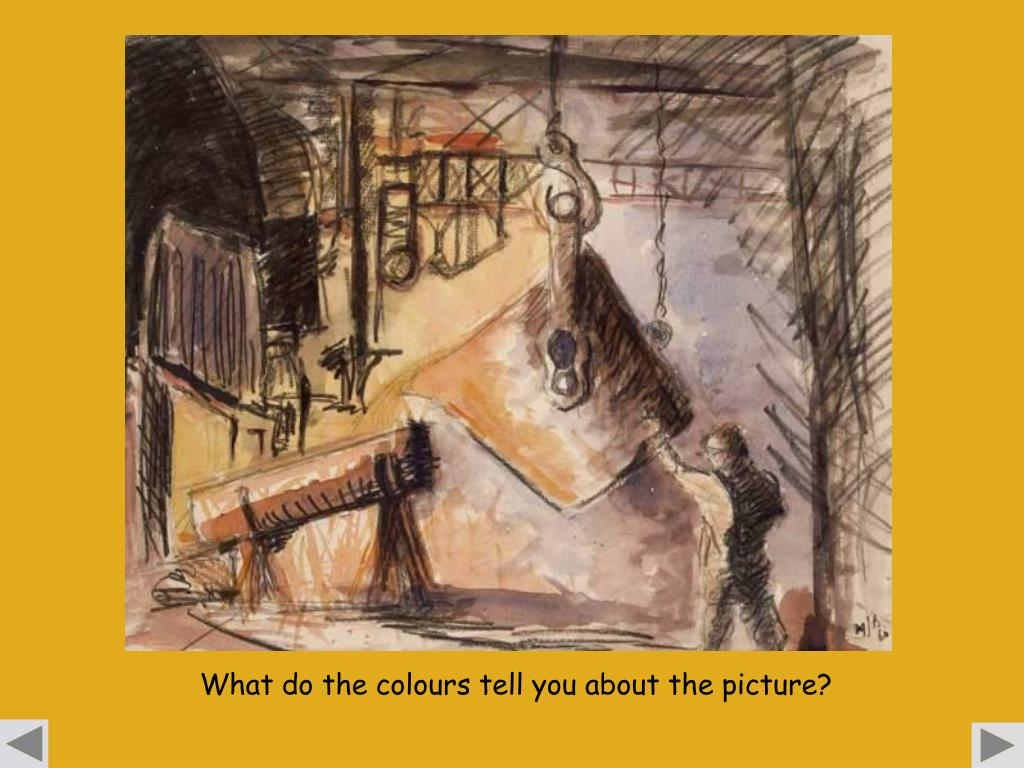What do the colours tell you about the picture?