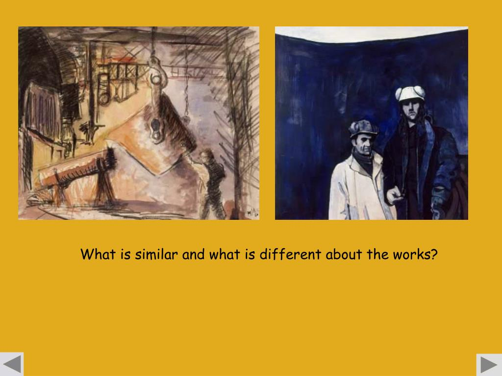 What is similar and what is different about the works?
