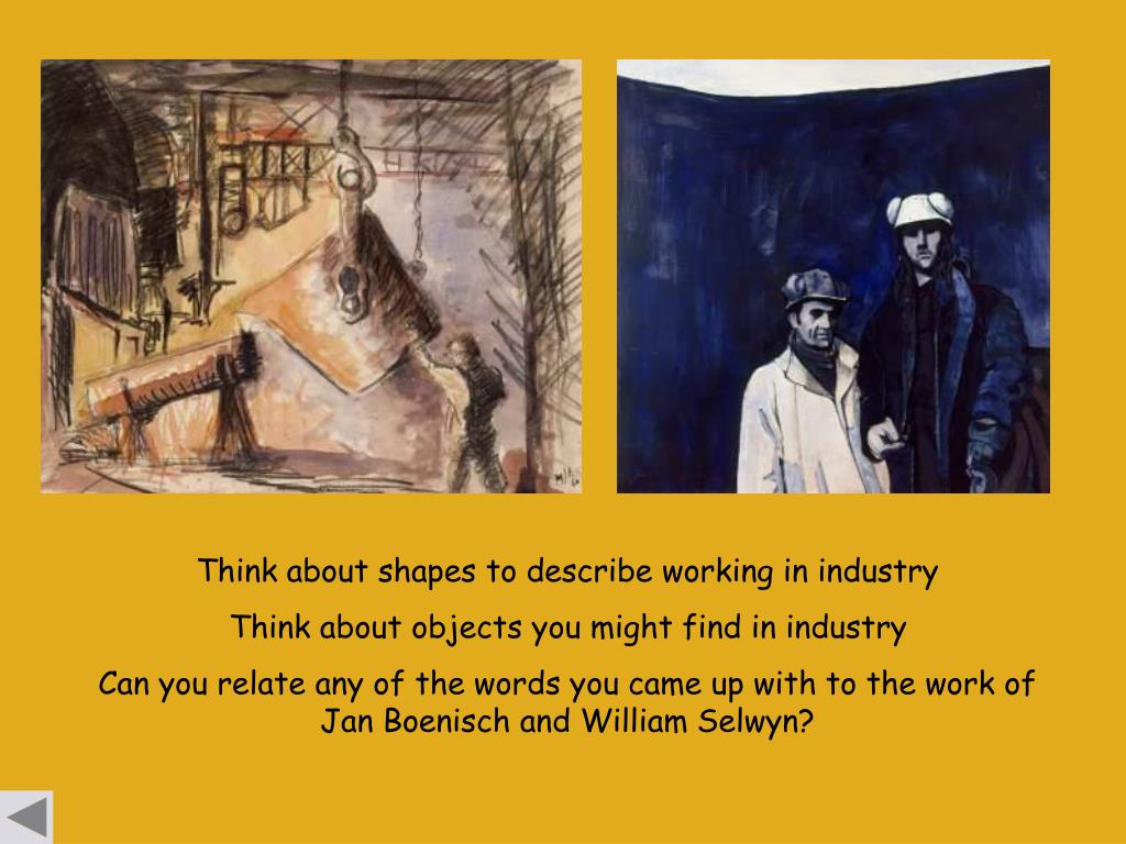 Think about shapes to describe working in industry