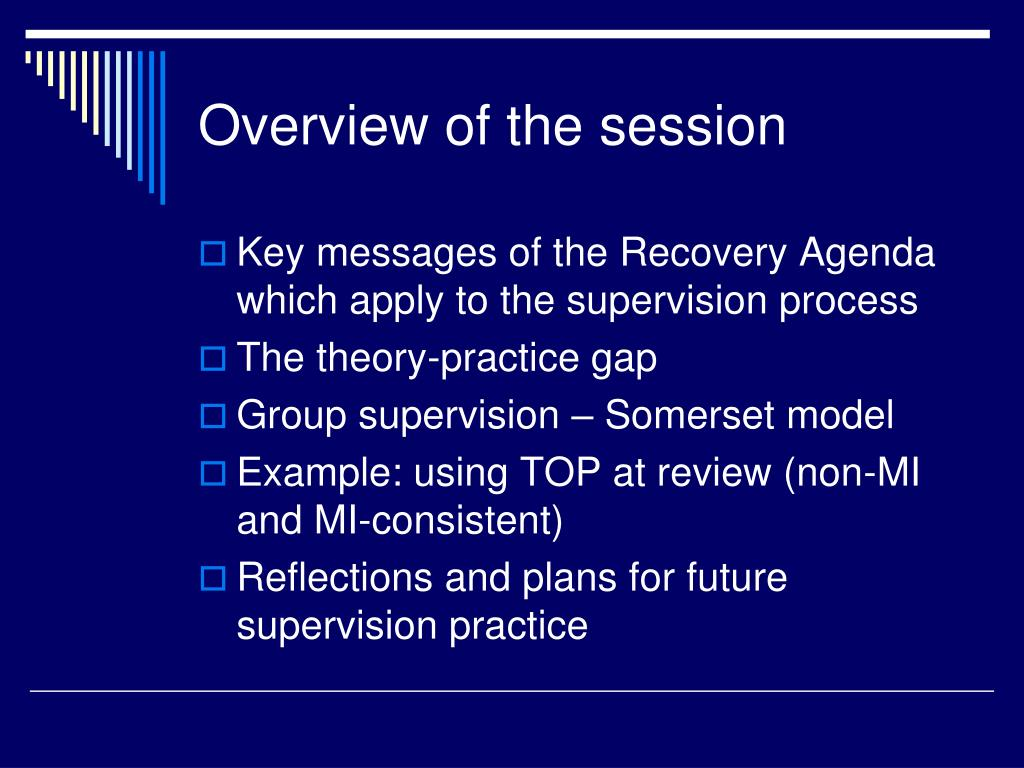 PPT - Supervision and the Recovery Agenda: bridging the gap between ...
